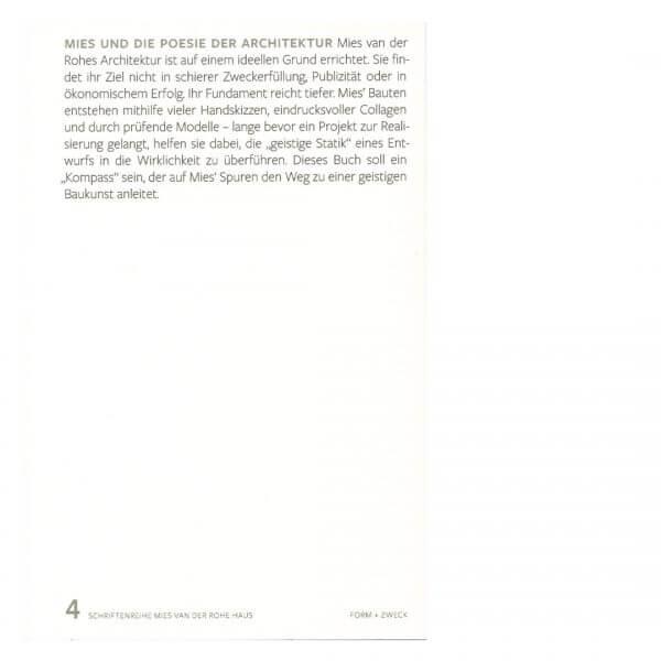 Mies und die Poesie der Architektur, Albert Kirchgast, Jörn Köppler, Wita Noack