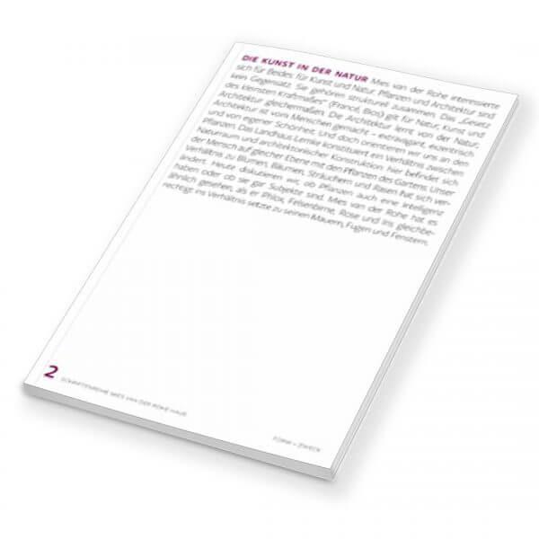 2 Schriftenreihe Mies van der Rohe Haus Die Kunst in der Natur WITA NOACK, JAHN MARUHN (HG.)
